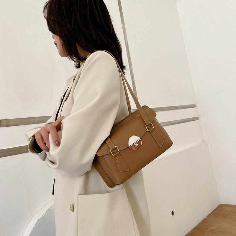 復古小包包女2021秋冬季新款潮時尚簡約斜挎包洋氣單肩小方包