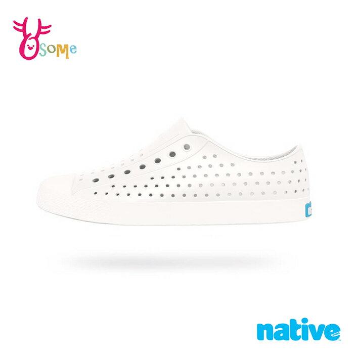 native水鞋 男女鞋 奶油頭 洞洞鞋 休閒鞋 情侶鞋 親子鞋 懶人鞋 JEFFERSON F9481#白色 奧森