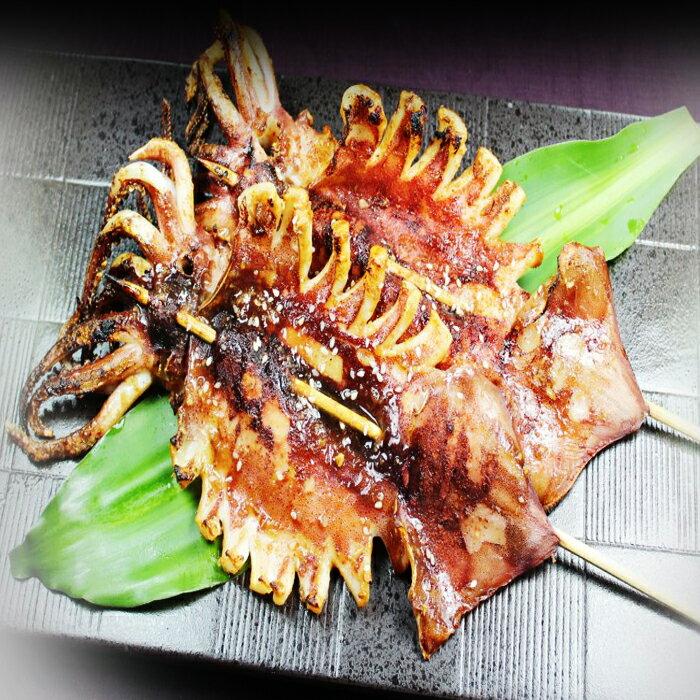 【好神】夜市超人氣鮮烤魷魚串8串組