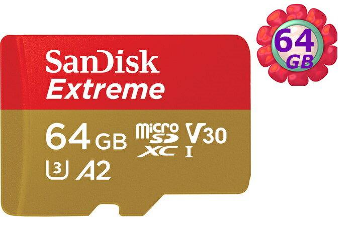 SanDisk 64GB 64G microSDXC【160MB/s Extreme】microSD micro SD SDXC UHS 4K U3 A2 V30 C10 原廠包裝手機記憶卡