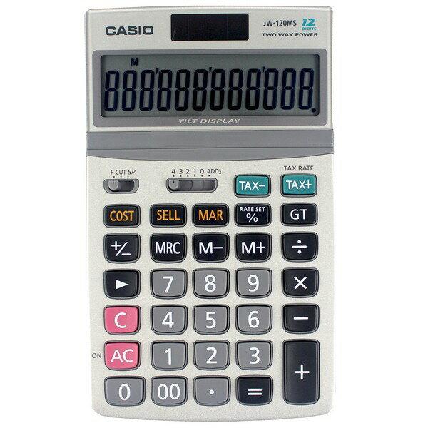 聯盟文具:CASIO可掀式面板桌上型計算機JW-120MS(12位)
