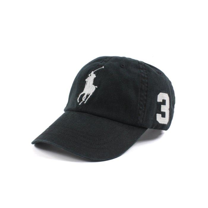 美國百分百【全新真品】Ralph Lauren 帽子 RL 配件 棒球帽 Polo 大馬 男帽 遮陽帽 黑色 C482