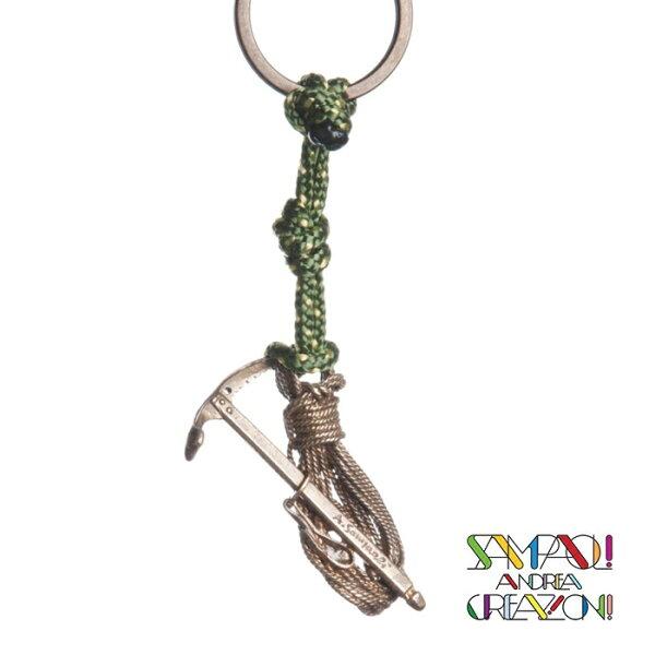 【SAC義大利】青銅掛飾吊飾--繩+冰斧義大利傳統飾品工藝(SAC15)