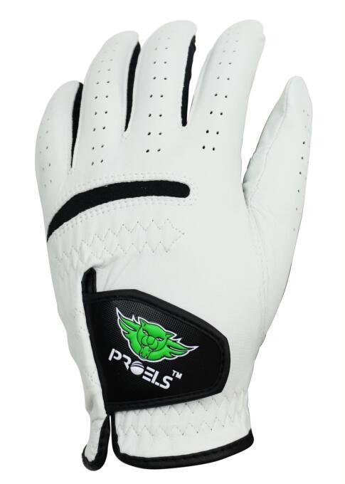 高爾夫手套小羊皮PROELS 100%特級小羊皮高爾夫球手套-男款-黑/白