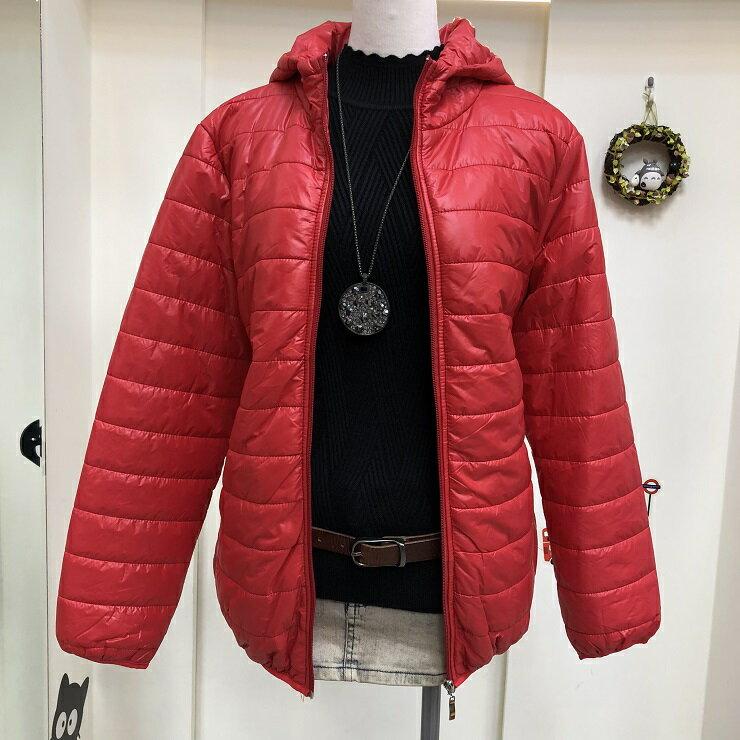 超取免運 紅 防潑水 防水 防風 鋪棉 連帽 刷毛 保暖 外套 夾克 大衣 女裝 女 女生