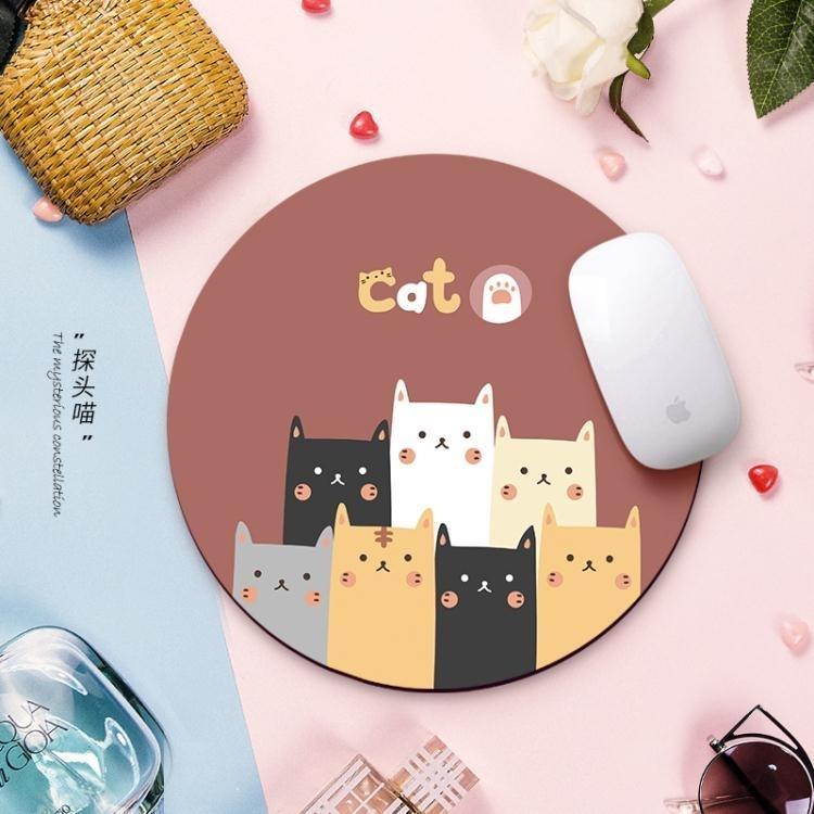 滑鼠墊小號可愛女生卡通動漫加厚大號定制訂做游戲電腦筆記本桌墊 凡卡時尚