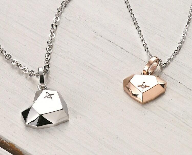 《Esther》愛的焦點白鋼/鍍鈦金項鍊SPD696S-696M-698S-698M《單售》