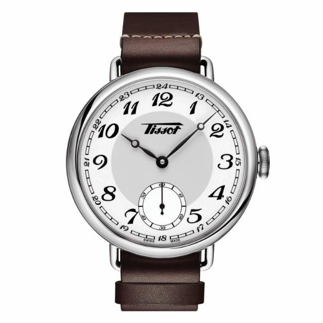TISSOT天梭表T1044051601200 復刻軍用手上鍊典雅機械腕錶/白面45mm