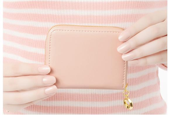 Women Wallet mini Synthetic Leather Card Holder 1