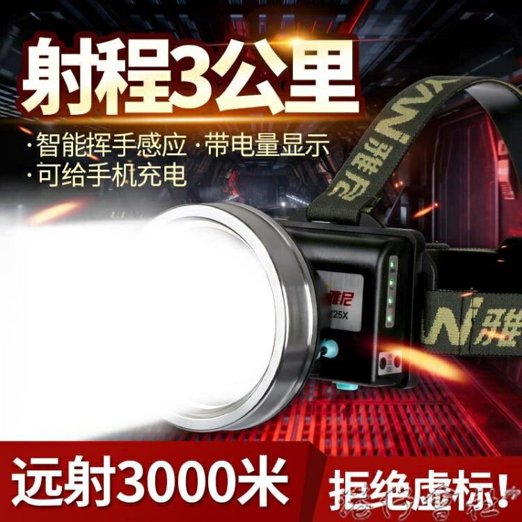 led頭燈強光充電超亮戶外頭戴式手電筒鋰電超長續航釣魚進口