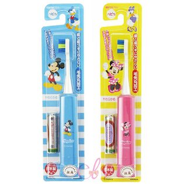 艾莉莎ELS:日本製minimum幼童專用震動式柔軟刷毛電動牙刷米奇米妮兩款供選☆艾莉莎ELS☆
