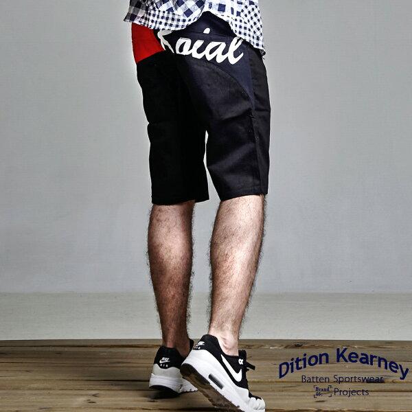 DITION特價100元商品!!美式SURF電繡工作短褲