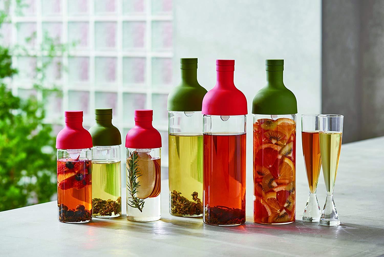 多色可選 日本原裝 300ml HARIO 酒瓶造型冷泡茶玻璃水壺  FIB-75-OG