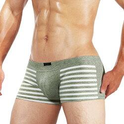 TIKU 梯酷 ~ 條紋派對 棉質透氣超彈 平口男內褲 -灰白(GC1238)