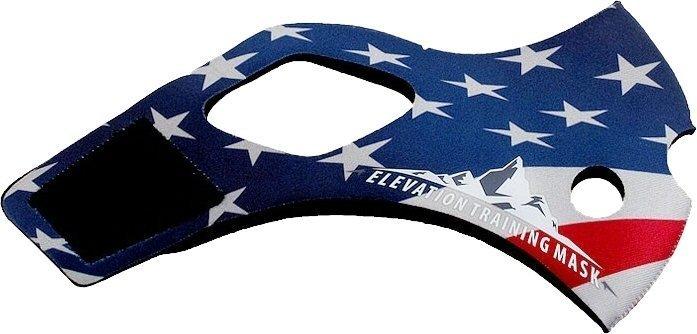 三鐵~馬拉松~鐵人單車訓練高海拔面罩Training Mask 2.0 面罩皮-美國國旗限量款 S/Msize