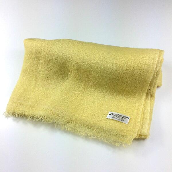 【喀什米爾圍巾】100%Pashmina素色鑽石編織CASHMERE圍巾-粉黃色(W13ENN004)