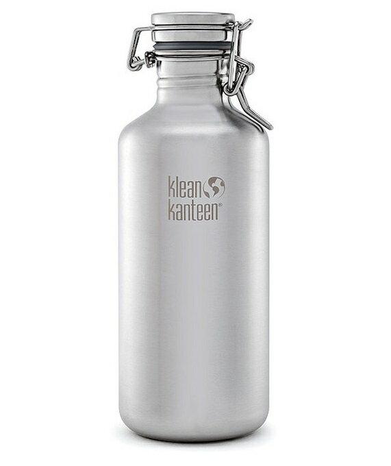 【【蘋果戶外】】Klean kanteen K40CSLK-BS【快扣/40oz/1182ml】美國 窄口經典可利鋼瓶 快扣 密封蓋系列(原色鋼)