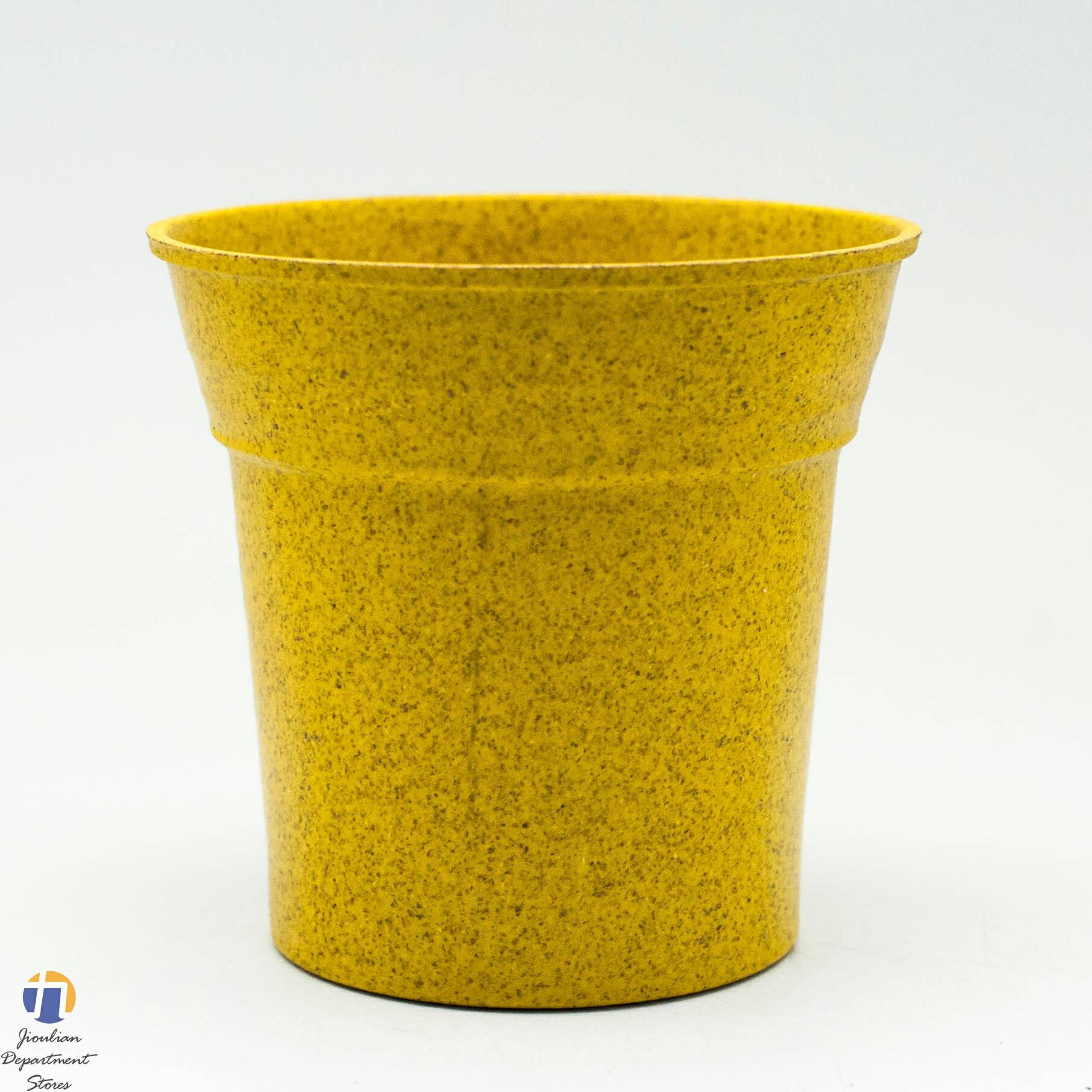 {九聯百貨} 5色 馬卡龍 家飾籃 造型花盆 (圓型造型) 桌上盆 塑膠花盆 無底洞 5色