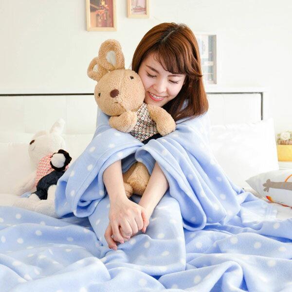 【水玉藍點】 時尚加厚懶人袖毯 ◆台灣精製◆ HOUXURY寢具生活網