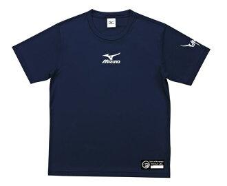 [陽光樂活]MIZUNO 美津濃x眼鏡王 插畫 限量男女款排球服V2TA6G2414 (深藍) 排球上衣(男女通用)