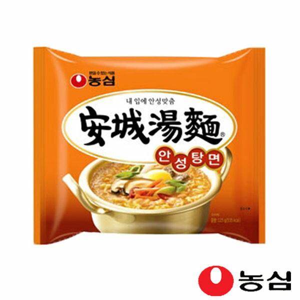 《Chara 微百貨》韓國 農心 內銷版 安城湯麵 (5入) 經典 露營 必備 農心 安成 安城 特價 2