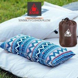 【【蘋果戶外】】KAZMI K6T3M001 民族風攜帶式棉枕 露營枕頭 非充氣枕頭