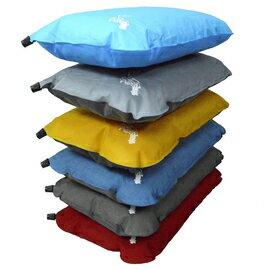 【【蘋果戶外】】Foam-Tex豐益不規則充氣枕頭自動充氣枕頭『枕頭』50*30*12cm300g台灣製造登山露營顏色隨機出貨PI-103