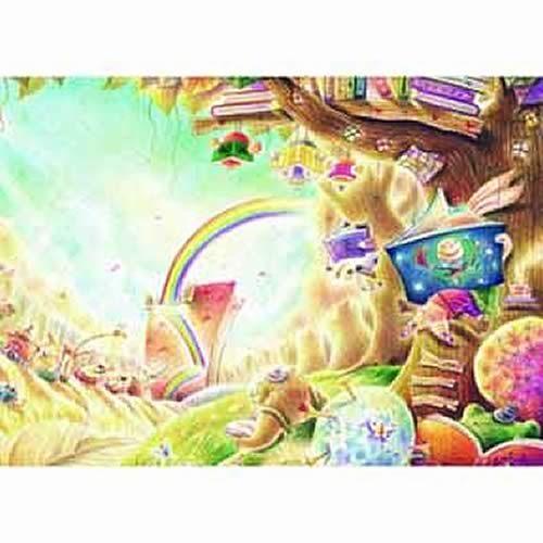 【P2 拼圖】閱讀森林 - 彩虹樹屋 520片 25-012