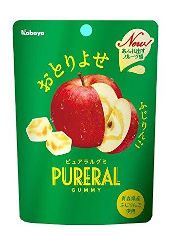 日本kabaya PURERAL蘋果軟糖 日本進口