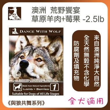 《荒野饗宴 Dance With Wolf 》草原羊肉+莓果+無穀 (犬) 2.5lb