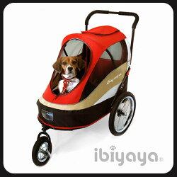 IBIYAYA依比呀呀-二代兩用寵物推/拖車紅【FS980】附自行車連接桿
