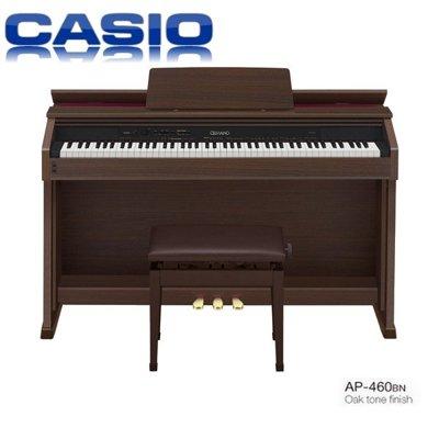 『非凡樂器』卡西歐CASIO AP460 /棕色木質色調/CELVIANO 數位鋼琴/台灣卡西歐原廠公司貨