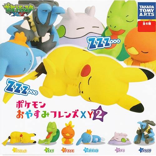全套6款【日本進口】皮卡丘 神奇寶貝XY 睡夢篇 第二彈 P2 扭蛋 寶可夢 TAKARA TOMY