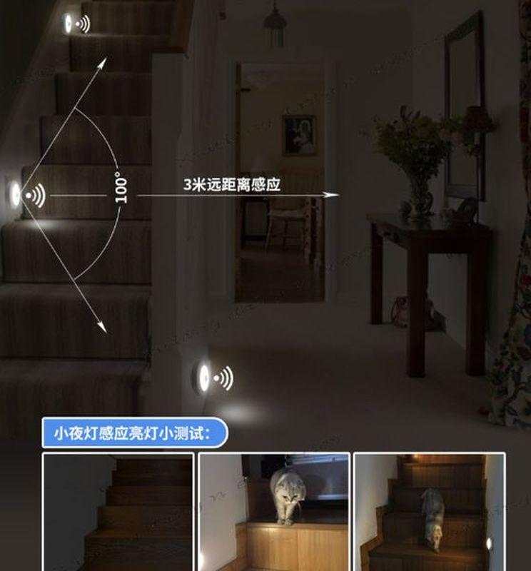 USB充電款感應燈 小夜燈 LED人體感應燈 走廊燈 床頭燈 感應燈【小冰生活百貨】