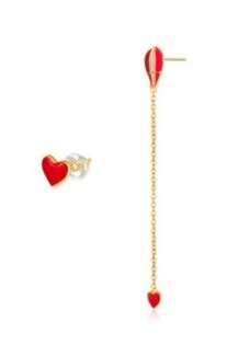 3699shop:[3699shop]日韓款飾品設計師款金滴釉熱氣球不對稱耳環吊墜