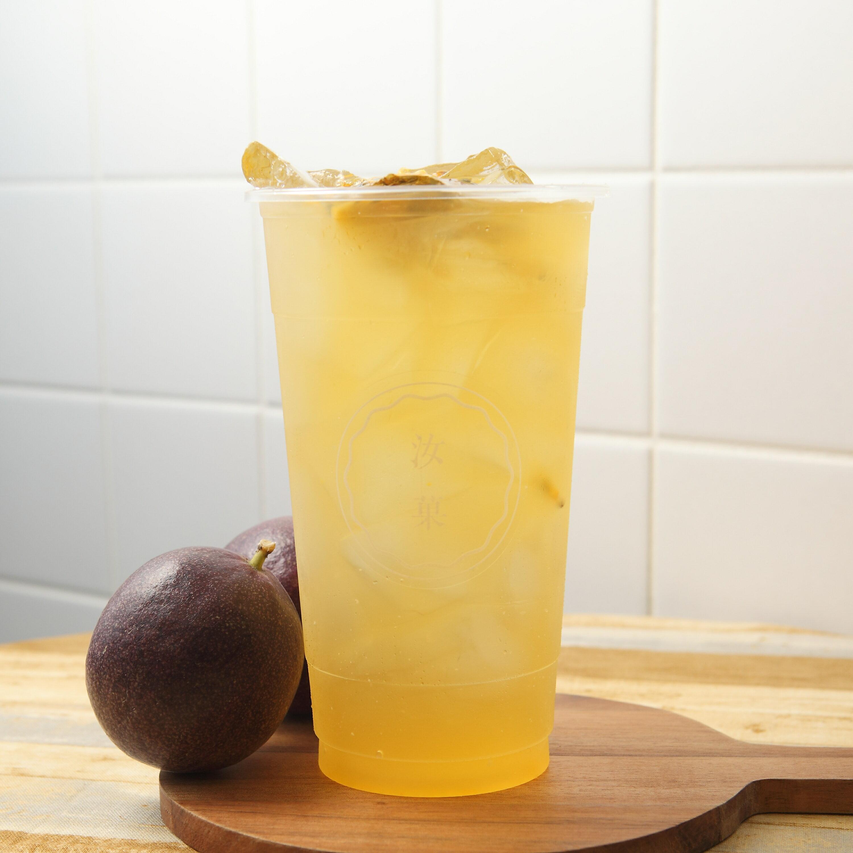 【汝菓】百香綠茶 L (冷) 700 c.c.★茶飲★水果風味★電子票券