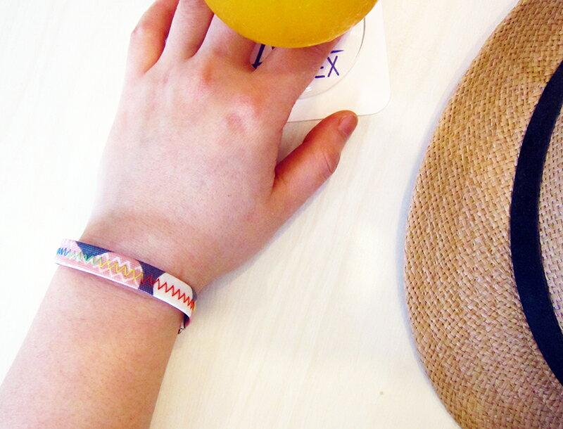 多功能手環&提環&吊飾-粉紅灰 3way bracelet