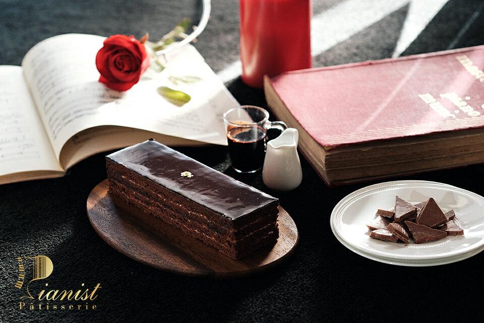 ※鋼琴師曲目※   蕭邦夜曲OP9.2 (80%純黑巧克力無粉蛋糕)🏆  2019蘋果日報母親節蛋糕評比第2名 2