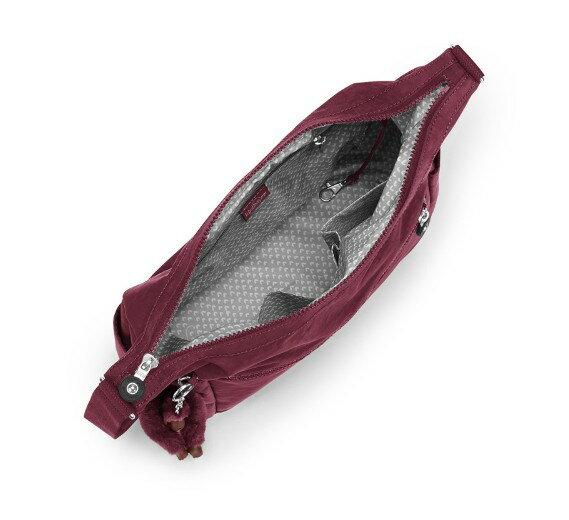 OUTLET代購【KIPLING】Basic拉鍊牛角包 斜揹包 肩揹包 媽媽包 酒紅色 2