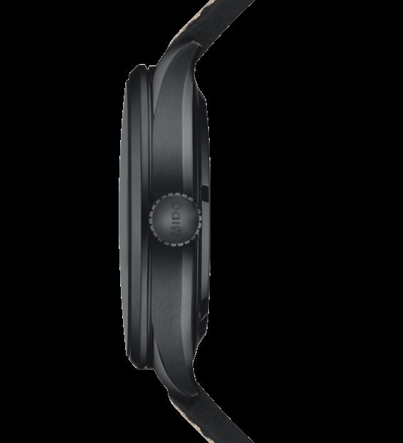 MIDO 美度 MULTIFORT先鋒系列 80小時動力儲存天文台腕錶-M0384313705100黑/42mm