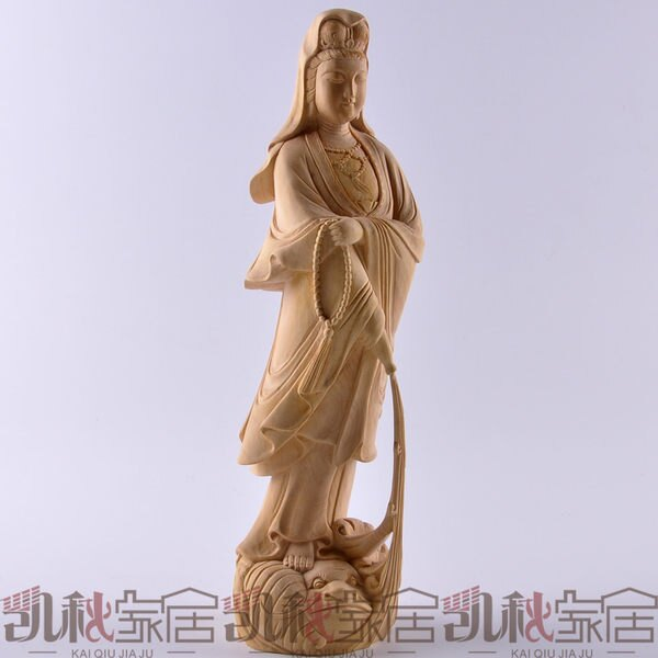 雕刻佛像工藝擺件拿珠滴水觀音菩薩