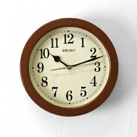 時鐘 SEIKO深咖木質外框掛鐘 [NG26] 柒彩年代