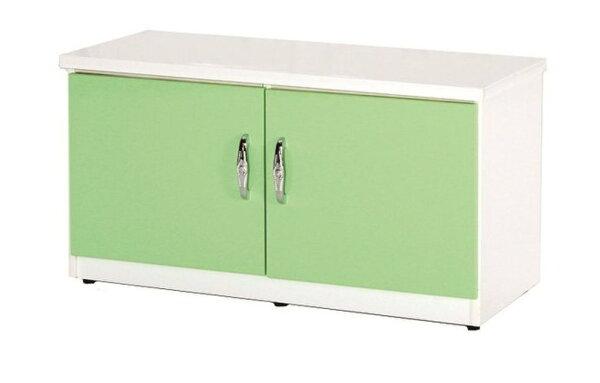 【石川家居】850-01(綠白色)座鞋櫃(CT-306)#訂製預購款式#環保塑鋼P無毒防霉易清潔