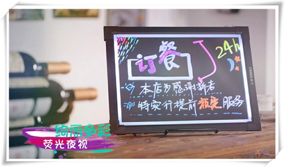 櫃台熒光板30 40懸掛式廣告牌led手寫電子黑板促銷店鋪用燈箱留言MKS摩可美家