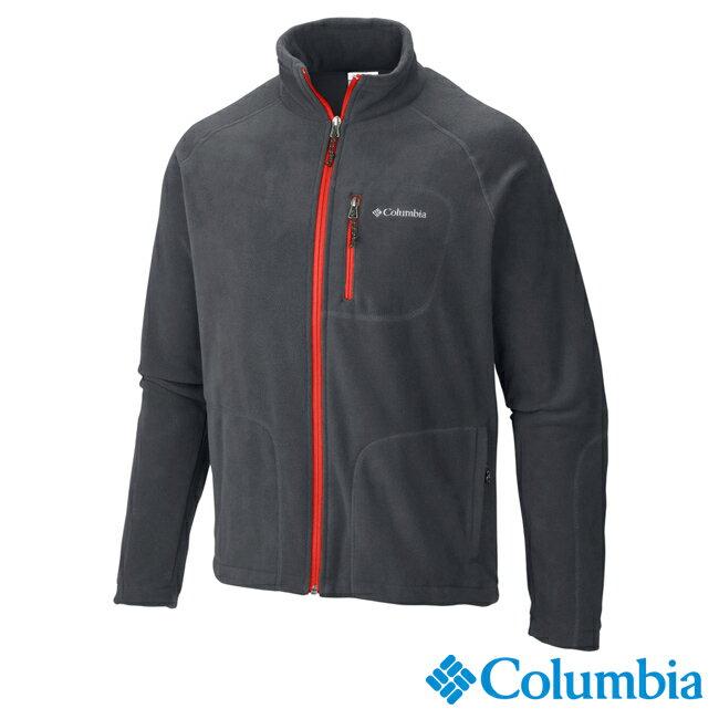 《台南悠活運動家》Columbia 美國 男刷毛外套 炭灰 30390cc