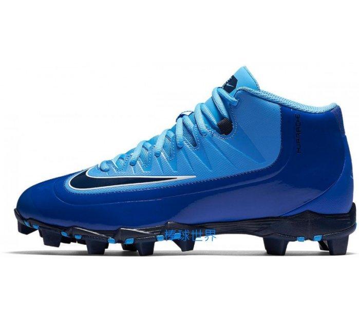 棒球世界全新 NIKE HUARCHE 3KFILTH PRO MID 膠釘鞋 807141-444 漸層藍色特價