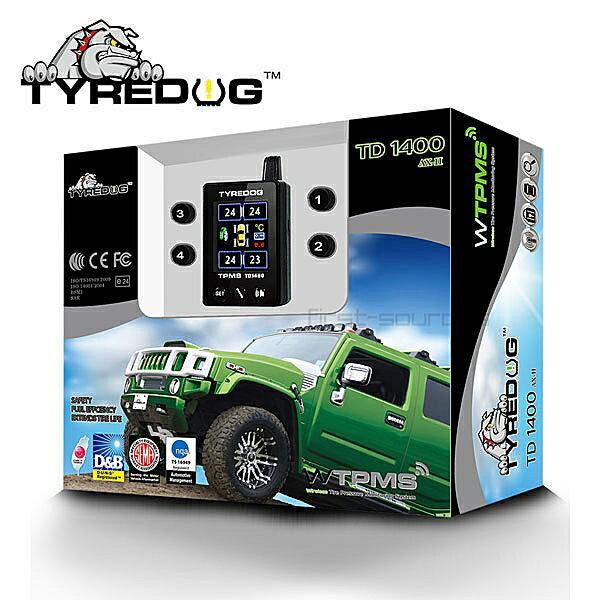 《育誠科技》實體店面/送3孔擴充『TYREDOG TD1400 A-X II 第二代』TPMS無線胎壓胎溫偵測器/胎外式