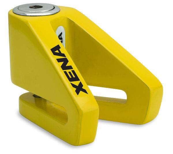 《育誠科技》『XENA X1 黃色』碟煞鎖/送收納袋/5mm鎖心/一般車通用款/另售鋼甲武士機車大鎖