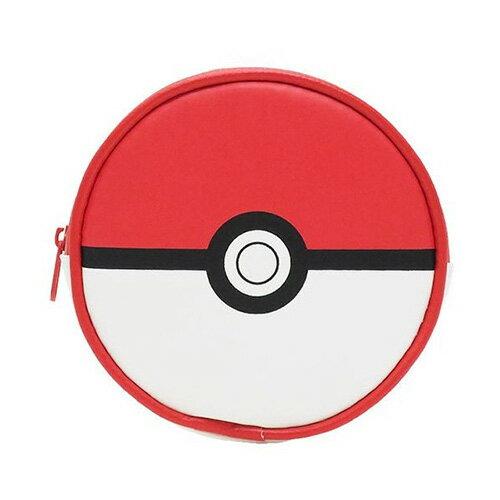 精靈球款 紅色【日本進口】神奇寶貝 寶貝球 零錢包 收納包 吊飾 口袋怪獸 精靈寶可夢 - 150755