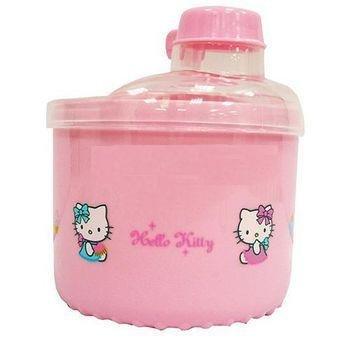 【真愛日本】13052900011旋轉奶粉盒-粉色 三麗鷗 Hello Kitty 凱蒂貓 奶瓶 嬰兒用品 正品